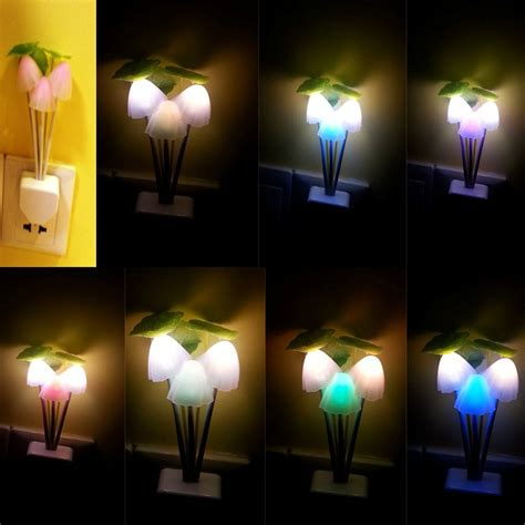 romantic colorful sensor led mushroom night light l