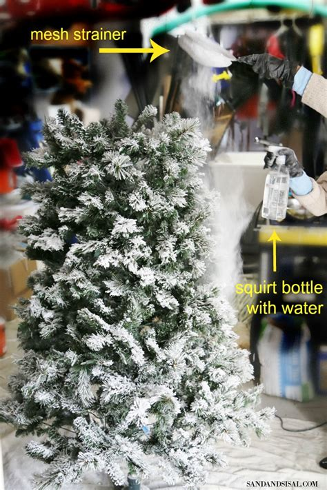 how to flock a christmas tree how to flock a christmas tree and greenery sand and sisal