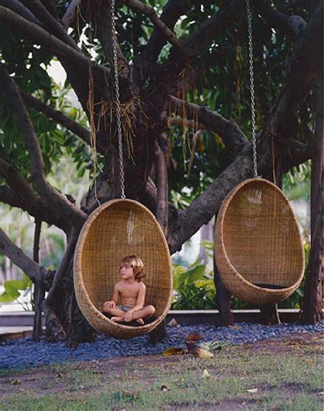 hanging wicker egg chair the house