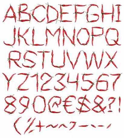 Font Pepper Chilli Recipe Fonts Hotness Alphabet