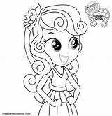 Coloring Sweetie Equestria Pony Belle Little Bettercoloring Credit Larger sketch template