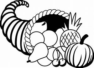 Thanksgiving Black And White Clipart - Clipart Suggest