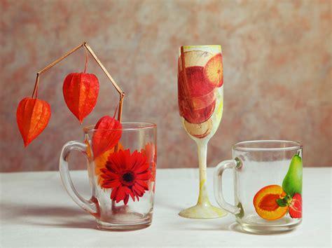 sta su bicchieri vetro decoupage su vetro guida diredonna