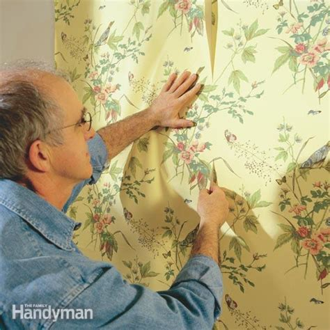 hang prepasted wallpaper  family handyman