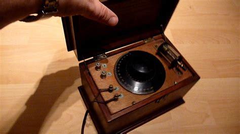 Gecophone Vintage Crystal Radio Set - YouTube