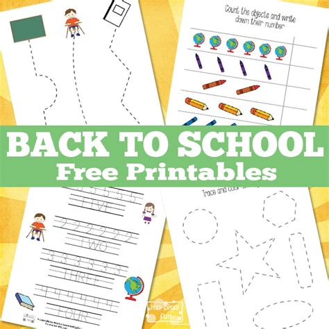 Simple Back To School Printables  Itsy Bitsy Fun