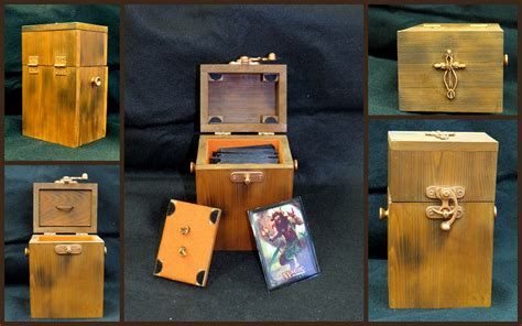 mtg custom wood deck box custom magic deck boxes artwork creativity community
