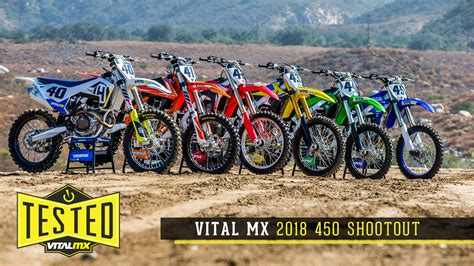 what are the best motocross 2018 vital mx 450 shootout motocross feature stories