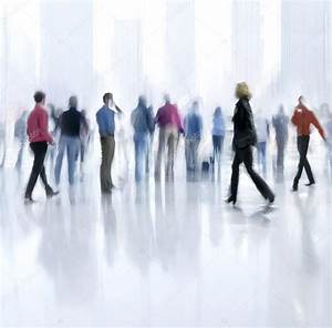 Group of people in the lobby business center — Stock Photo ...