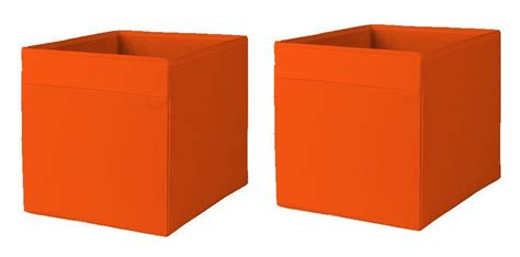1 2 or 4x ikea drona storage box organiser expedit unit file orange blue ebay