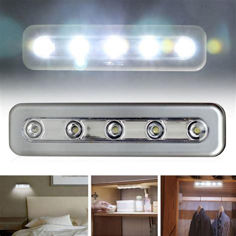 stick on kitchen lights 5led touch light home kitchen cabinet closet 5804