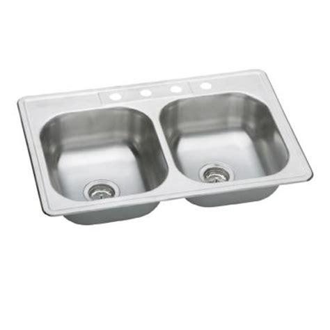 home depot kitchen sinks top mount elkay neptune top mount stainless steel 33 in 4