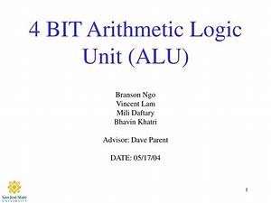 Ppt - 4 Bit Arithmetic Logic Unit  Alu  Powerpoint Presentation