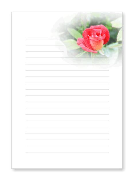 blumenbriefpapier zum ausdrucken mit blueten