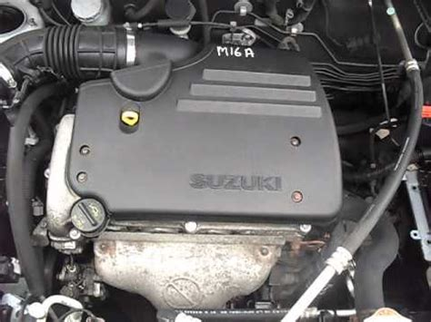 how does a cars engine work 2000 suzuki esteem user handbook suzuki liana 1 6 16v m16a engine 01 06 parts4carsuk youtube