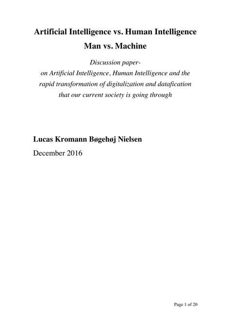 (PDF) Artificial Intelligence vs. Human Intelligence (Man