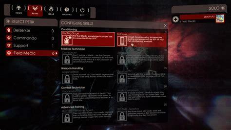 killing floor 2 new perks killing floor 2 can i reset skills in kf2 arqade