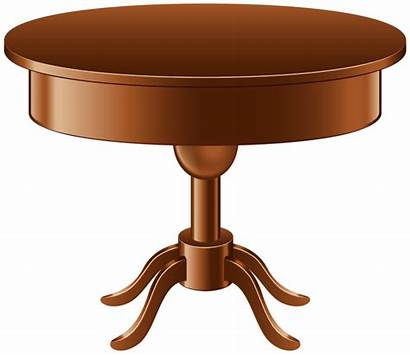 Table Clipart Transparent Clip Round Furniture Oval