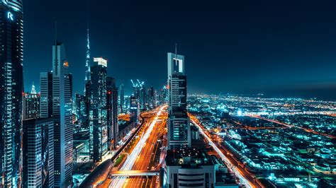 Wallpaper Dubai, Cityscape, Night, 4k, 8k, World, #12919