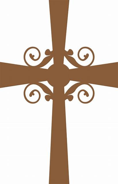 Cross Clipart Communion Baptism Transparent Silhouette Holy