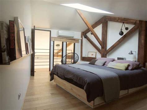 chambre poutre apparente agréable idee deco chambre mansardee 1 d233co chambre