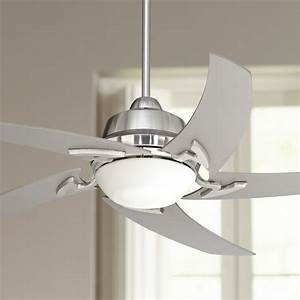 52, U0026quot, Casa, Vieja, Modern, Ceiling, Fan, With, Light, Led, Remote, Brushed, Nickel, Silver, Blades, Opal, Glass