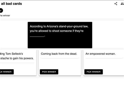 It literally started a riot when i started playing against my friends please note, we're not affiliated with cards against humanity. Bored at home this weekend? You can play the popular card game 'Cards Against Humanity' with ...