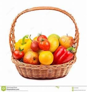 Panier A Fruit : fruits et l gumes dans un panier en osier photo stock image 32640060 ~ Teatrodelosmanantiales.com Idées de Décoration