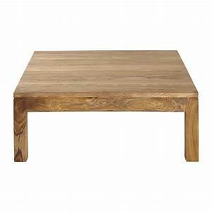 Table Basse Carrée En Bois : table basse en bois de sheesham massif l 100 cm stockholm ~ Teatrodelosmanantiales.com Idées de Décoration