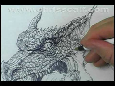 ball point  dragon sketch  dvd documentary attempt