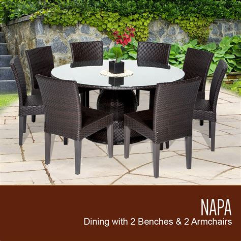 tk classics napa 60 inch outdoor patio dining table