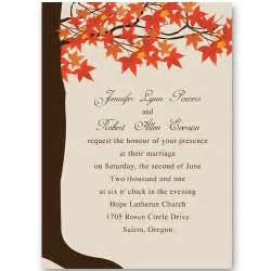 rehearsal invitations maple tree fall wedding invitations ewi251 as low as
