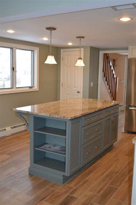 diy kitchen island from stock cabinets küchenblock freistehend mehr arbeitsfläche und stauraum
