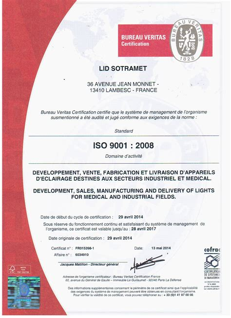 bureau veritas maroc certificat iso 9001 lid
