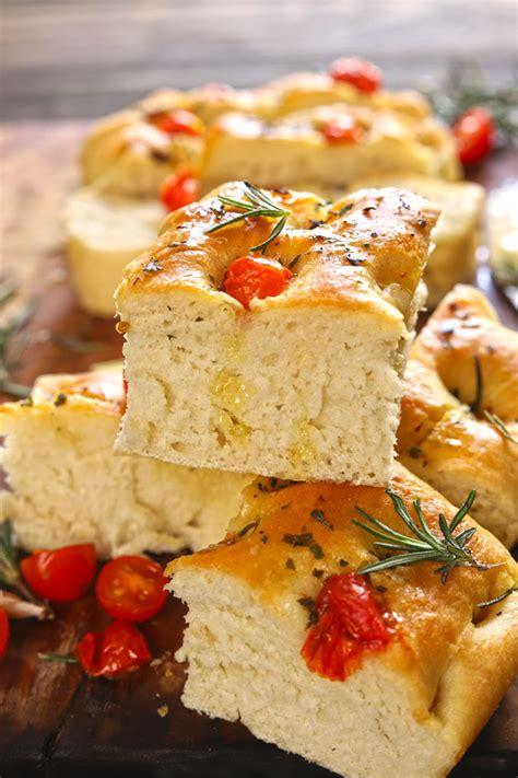 focaccia recipe rosemary garlic bread fun food frolic