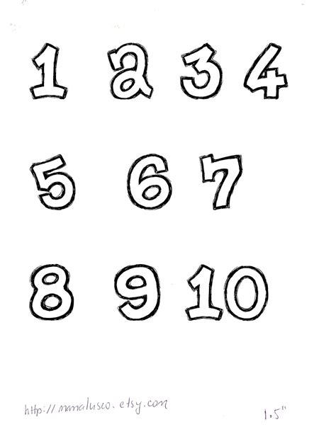 Free Numbers Templates by Lusco Handmade Free Number Templates 1 10 For Applique