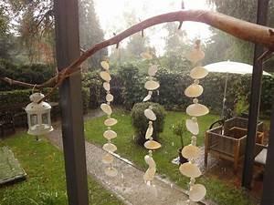 aus muscheln ein windspiel basteln With französischer balkon mit treibholz deko garten