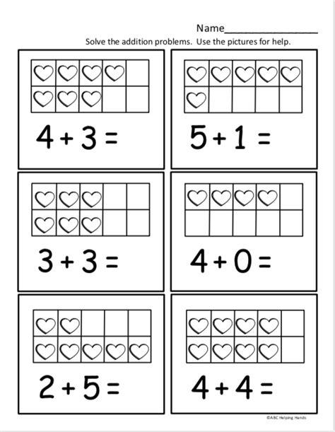 free kindergarten math worksheet for kindergarten addition madebyteachers