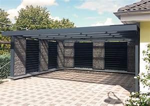 Gabionen L Form : gabionen carport steelmanufaktur ~ Sanjose-hotels-ca.com Haus und Dekorationen