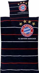 Fc Bayern Bettwäsche : fc bayern m nchen bettw sche streifen 135x200cm ~ Watch28wear.com Haus und Dekorationen