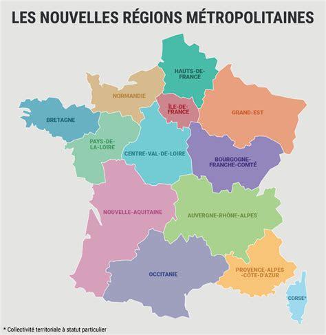 Nouvelle Carte De Par Region by Carte Nouvelles R 233 Gions Carte 2018