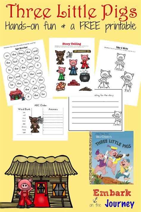 FREE Three Little Pigs Printables Pack Free Homeschool