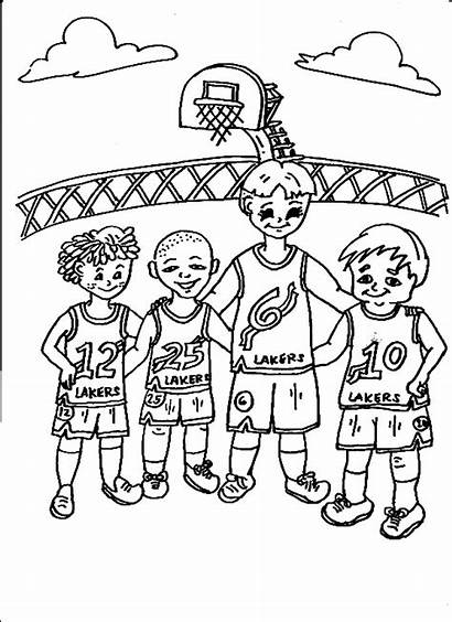 Team Sports Coloring Pages Basketball Teams Jazz