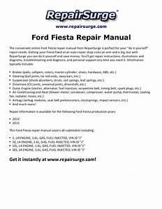 Ford Fiesta Repair Manual 2011