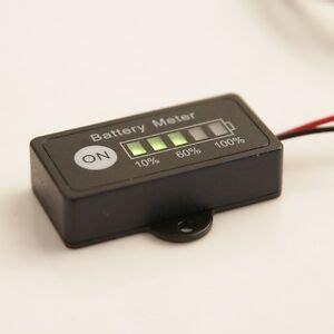 led panel 12 volt led panel 12v car battery meter indicator for 12 volt lead acid golf cart ebay