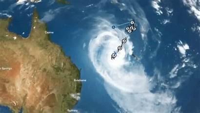 Cyclone Oma Coast Gold Rain Tropical Direction