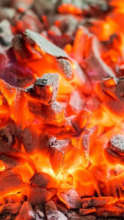 Iphone Wallpapers Plus Burning Cool Coals Flames