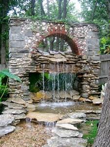 Water Fountain Landscape Ideas Backyard Design Ideas