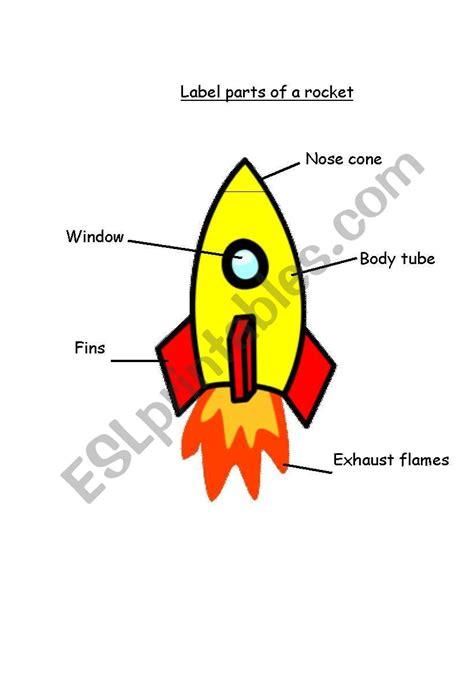 English Worksheets Parts Of A Rocket