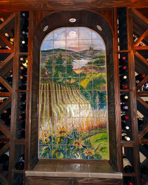 15 Best Images About Tile Murals For Wine Cellars On